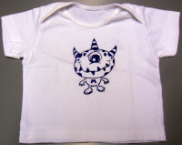 "Baby-T-Shirt ""Blaues Monster"""