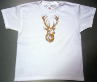 "Kinder-T-Shirt ""Goldener Hirsch"""